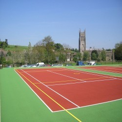 Tennis Pitch Refurbishment in Abertysswg 1