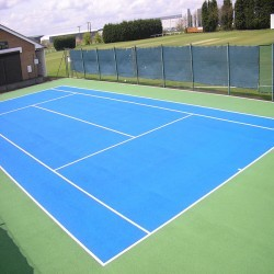 Tennis Pitch Refurbishment in Abertysswg 12