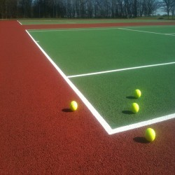 Tennis Pitch Refurbishment in Wrexham 4