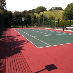 Relining Tennis Surfaces in Abram 7