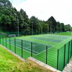 Tennis Pitch Refurbishment in Abertysswg 11
