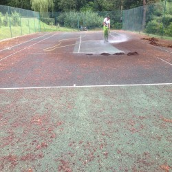 Tennis Pitch Refurbishment in Wrexham 2