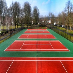 Tennis Court Surface Repainting in Shropshire 1
