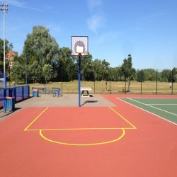 Tennis Court Surface Repainting in Aberwheeler/Aberchwiler 3