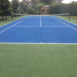 Tennis Court Surface Rejuvenation in Abergwesyn 1