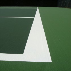 Relining Tennis Surfaces in Armagh 1