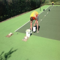Tennis Pitch Refurbishment in Wrexham 11