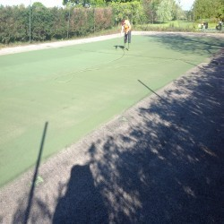 Relining Tennis Surfaces in Armagh 11