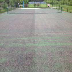 Tennis Court Surface Rejuvenation in Abergwesyn 2