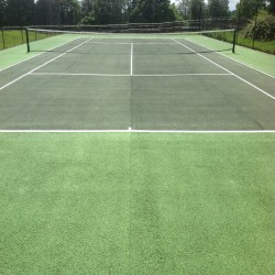 Tennis Court Surface Repainting in Dungannon 4