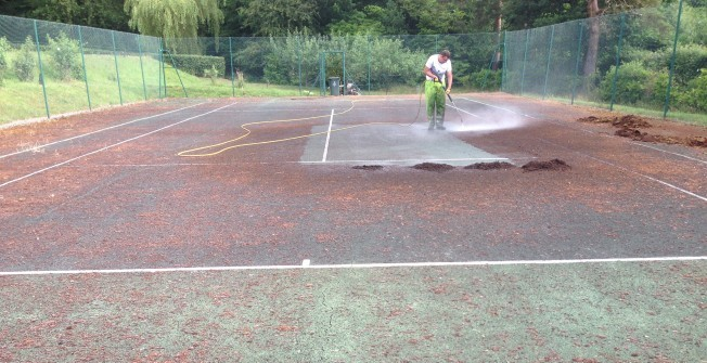 Tennis Court Cleaning in Abermule/Aber-miwl