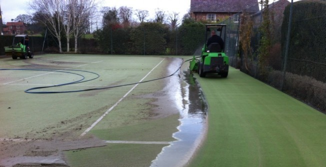 Synthetic Court Cleaning in Aspull Common