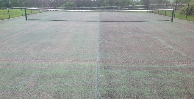 Tennis Court Repainting in Alderney