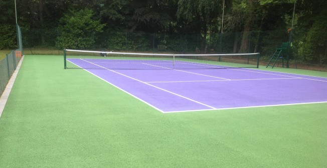 Tennis Pitch Surface Refurbishment in Abertysswg