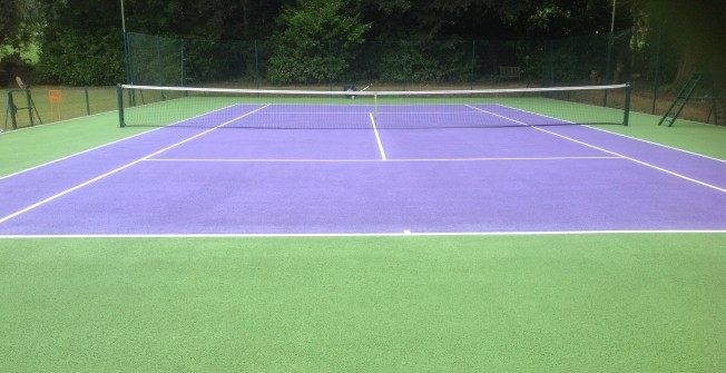 Tennis Court Maintenance in Abergarw
