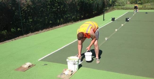 Sports Court Painting in Alderney