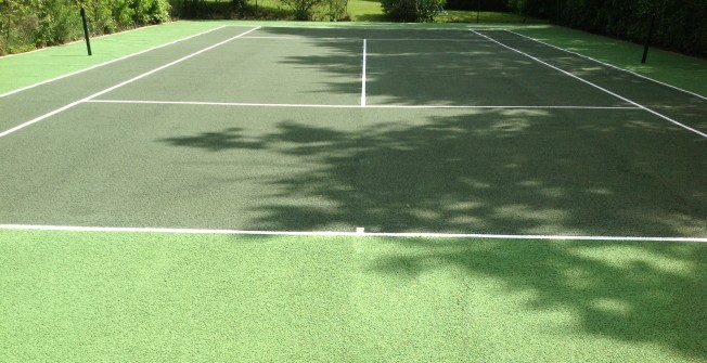 Resurfaced Tennis Pitch in Newtownabbey
