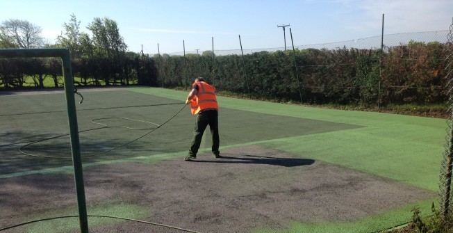 Sport Surface Painting in Aspull Common