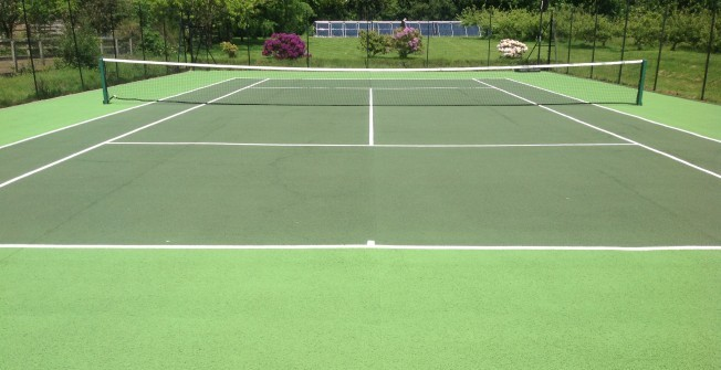 Repainting Tennis Surfaces in Aberwheeler/Aberchwiler
