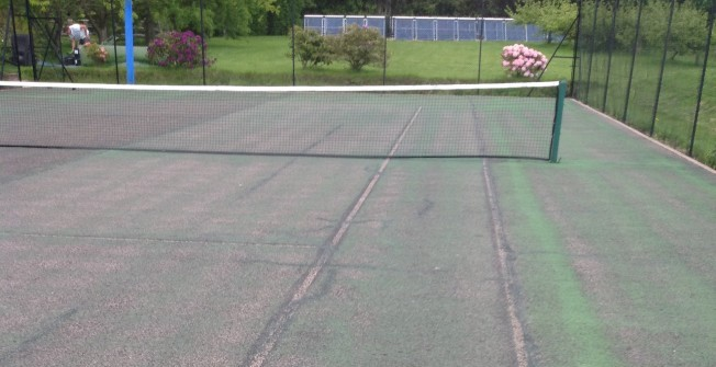 Tennis Surface Line Markings in Angus