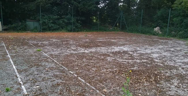 Refurbishment of Tennis Courts in Abertysswg
