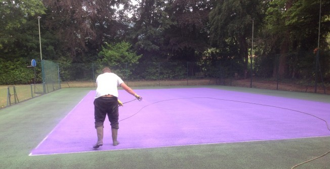 Cleaning Tennis Surfaces in Astley